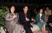 Helga Ungurait, Eric McCormack, Sharleen Spiteri, , Evening at Sanderson, 3 June 2003. © Copyright Photograph by Dafydd Jones 66 Stockwell Park Rd. London SW9 0DA Tel 020 7733 0108 www.dafjones.com