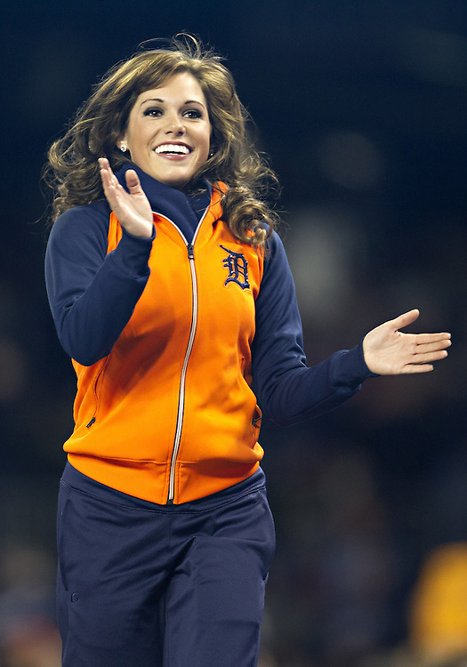 May 13, 2013:  Energy Squad member Chelsea Estes  during MLB game action between the Houston Astros and the Detroit Tigers at Comerica Park in Detroit, Michigan.  The Tigers defeated the Astros 7-2.