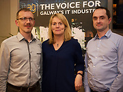 Repro  Free:  Fidelity Investments' Jacek Gebal , Roisin Burke and Kieran Flesk at  ITAG Members Update evening where some of the Nominees pitched their projects.   <br /> The ITAG Excellence Awards will take place on  November 17th Hotel Meyrick, Eyre Square, Galway.<br /> Winners in the following categories will be announced: <br />     New Talent of the Year Award<br />     Digital Woman Awards<br />     Emerging Technology Start Up Award<br />     Leadership Award<br />     Technology Innovation of the Year Award<br />     Digital Project Award<br />     ITAG Digital Enterprise Award < 50 Employees<br />     ITAG Digital Enterprise Award > 50 Employees.<br />  <br />  Photo:Andrew Downes, xposure.