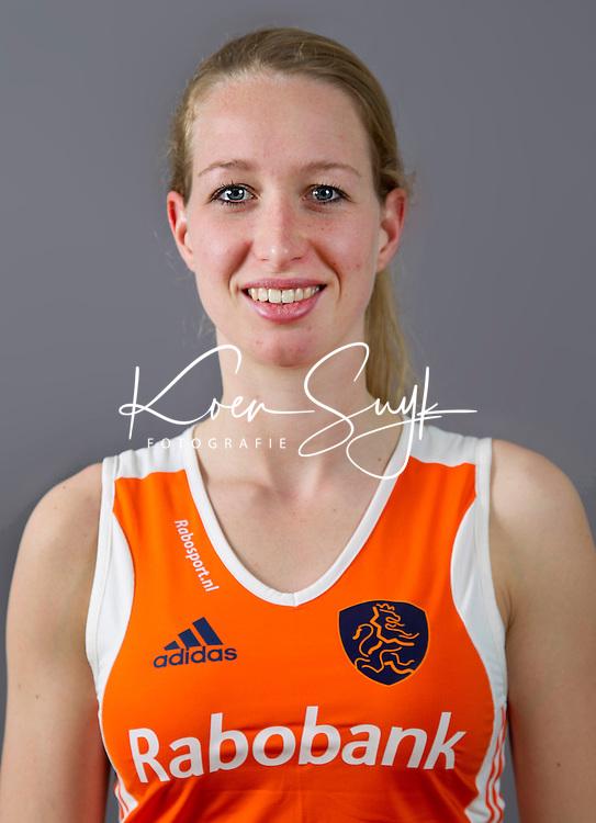 ARNHEM - Keeper JOYCE SOMBROEK. Nederlands hockeyteam dames 2012. FOTO KOEN SUYK/KNHB