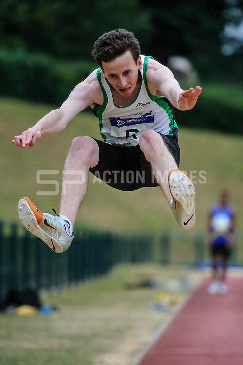 Action from the Men's Long Jump in the Division 2 North match of the Southern Athletics League, Westminster Lodge, St Albans, Herts on the 20th July 2013