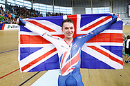 Men Omnium, Ethan Hayer (Great Britain) gold medal, during the Track Cycling European Championships Glasgow 2018, at Sir Chris Hoy Velodrome, in Glasgow, Great Britain, Day 3, on August 4, 2018 - Photo Luca Bettini / BettiniPhoto / ProSportsImages / DPPI