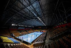 General view of an arena Zlatorog during handball match between RK Celje Pivovarna Lasko (SLO) and Paris Saint-Germain Handball (FRA) in Round of 16 of EHF Champions League 2020/21, on April 1, 2021 in Arena Zlatorog, Celje, Slovenia. Photo by Vid Ponikvar / Sportida