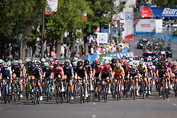 Peloton approaches at Madrid Challenge by la Vuelta 2017 - a 87 km road race on September 10, 2017, in Madrid, Spain. (Photo by Sean Robinson/Velofocus.com)