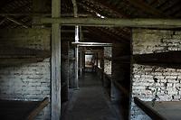 09 APR 2012, KRAKOW/POLAND:<br /> Blick in eine Steinbarake im Sektor I des Lagers, Staatliches polnisches Museum / Gedenkstaette des ehem. Konzentrationslager Ausschitz-Birkenau<br /> IMAGE: 20120409-01-032<br /> KEYWORDS: Krakau, KZ, Vernichtungslagers Auschwitz II–Birkenau, Polen