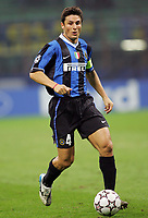 """Javier Zanetti (Inter)<br /> Champions League 2006/07 Group Stage Group B <br /> 18 Oct 2006 (match day 3)<br /> Inter-Spartak Mosca 2-1<br /> """"Giuseppe Meazza"""" Stadium-Milano-Italy<br /> Photographer Luca Pagliaricci Inside"""