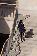 Cascading stairs in the Rokos Quad. Pembroke College, New Build on completion March 2013. Oxford, UK