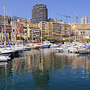 Luxury yachts and boats in Monaco harbor