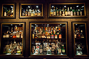 The selection of spirits, Ona Mor cocktail bar, Cologne.