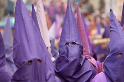 South America, Ecuador, Pinchincha Province, Quito.  Procession during Holy Week (Semana Santa) on Good Friday.