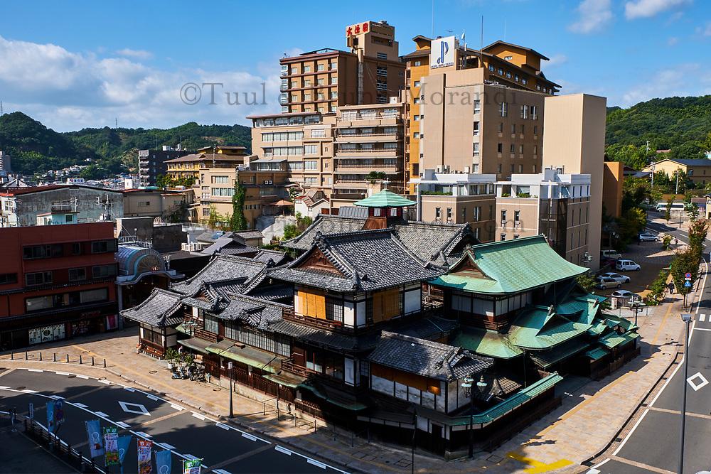 Japon, île de Shikoku, prefecture de Ehime, Matsuyama, Dogo Onsen, grand établissement de bains publics // Japan, Shikoku island, Ehime region, Matsuyama, Dogo Onsen, old spa