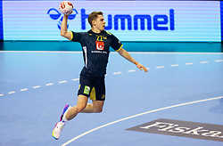 Lucas Pellas of Sweden during handball match between National Teams of Sweden and Algeria at Day 2 of IHF Men's Tokyo Olympic  Qualification tournament, on March 13, 2021 in Max-Schmeling-Halle, Berlin, Germany. Photo by Vid Ponikvar / Sportida
