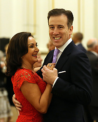 December 23, 2017 - London, London, United Kingdom - Image licensed to i-Images Picture Agency. 22/12/2017. London, United Kingdom. 'Strictly Come Dancing' Head Judge Shirly Ballas with professional dancer Anton du Beke dance during a tea dance hosted by The Duchess of Cornwall, President of the National Osteoporosis Society, at Buckingham Palace in London to highlight the benefits for older people of staying active. (Credit Image: © Rota/i-Images via ZUMA Press)