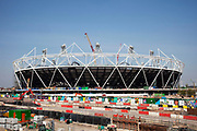 Construction of the main Olympic stadium in East London. This will be the focus at the 2012 Olympics