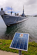 WW2 submarine, the USS Bowfin. USS Bowfin Submarine Museum and Park, part of the USS Arizona Memorial Museum in Pearl Harbour, Hawai. RIGHTS MANAGED LICENSE AVAILABLE FROM www.PhotoLibrary.com