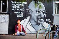 MC Yogi at Gandhi Mural, San Francisco