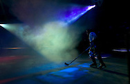 1/5/07 -- Omaha, NE<br /> Lincoln Stars player CARTER CAMPER takes the ice during pre-game introductions Friday night.<br /> <br /> Photo by Chris Machian, Prairie Pixel Group