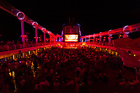 Club Pirate show on deck on the new Disney Dream cruise ship, Disney Cruise Line, sailing between Florida and the Bahamas