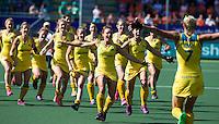 DEN HAAG - Rabobank World Cup Hockey 2014 .  Semi final Australia vs USA 2-2 , Vreugde bij Australie. Austr. wins after shoot outs . COPYRIGHT KOEN SUYK
