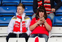 Bristol City fans await kick off - Photo mandatory by-line: Matt McNulty/JMP - Mobile: 07966 386802 - 03/04/2015 - SPORT - Football - Oldham - Boundary Park - Oldham Athletic v Bristol City - Sky Bet League One