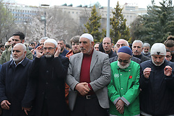 Demonstrators chant slogans against the mosque attacks in New Zealand during a protest in Ankara, Turkey, on March 16, 2019. World leaders expressed condolences and condemnation following the deadly attacks on mosques in the New Zealand city of Christchurch, while Muslim leaders said the mass shooting was evidence of a rising tide of violent anti-Islam sentiment. Photo by Depo Photos/ABACAPRESS.COM