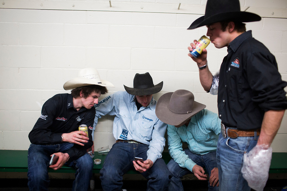 during the PBR bull riding event in Prince Albert, Saskatchewan, May 5, 2017. Photograph by Todd Korol/Globe and Mail