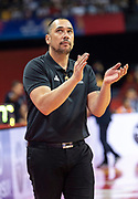 NANJING,CHINA:SEPTEMBER 5th 2019.FIBA World Cup Basketball 2019 Group phase match.Group F. New Zealand vs Greece .Paul HENARE encourages from the sidelines.<br /> Photo by Jayne Russell / www.PhotoSport.nz