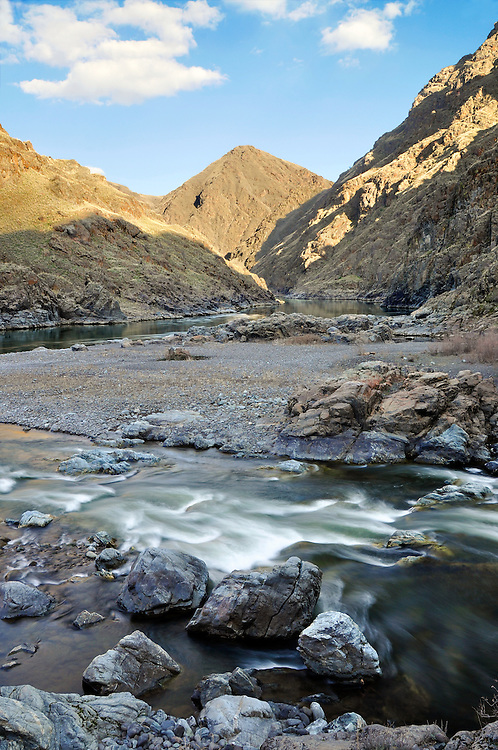 Confluence of the Imnaha and Snake Rivers in Hells Canyon on the Oregon/Idaho border.