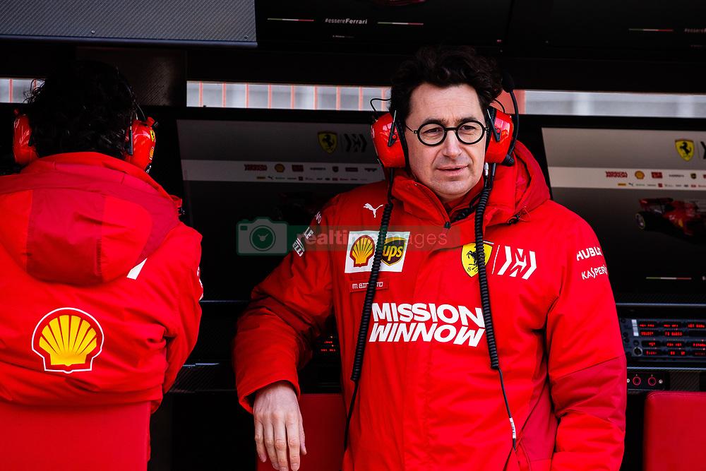 February 18, 2019 - Montmelo, BARCELONA, Spain - Mattia Binotto Team Chief Scuderia Ferrari Mission Winnow SF90 portrait during the Formula 1 2019 Pre-Season Tests at Circuit de Barcelona - Catalunya in Montmelo, Spain on February 18. (Credit Image: © AFP7 via ZUMA Wire)
