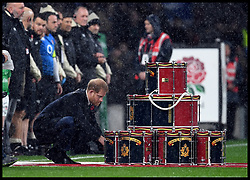 November 10, 2018 - London, London, United Kingdom - England face the All Blacks at Twickenham Stadium during the Quilter Internationals 2018. Prince Harry, The Duke of Sussex, lays a wreath at the  England v  New Zealand  game at Twickenham  (Credit Image: © Andrew Parsons/i-Images via ZUMA Press)