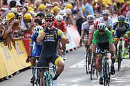 Arrival, Dylan Groenewegen (NED - Team LottoNL - Jumbo) winner, Fernando Gaviria (COL - QuickStep - Floors), Peter Sagan (SVK - Bora - Hansgrohe) during the 105th Tour de France 2018, Stage 7, Fougeres - Chartres (231km) on July 13th, 2018 - Photo Kei Tsuji / BettiniPhoto / ProSportsImages / DPPI