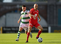 18 July 2019; Ruben Kristiansen of SK Brann in action against Jack Byrne of Shamrock Rovers during the UEFA Europa League First Qualifying Round 2nd Leg match between Shamrock Rovers and SK Brann at Tallaght Stadium in Dublin. Photo by Seb Daly/Sportsfile