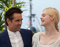 Elle Fanning, and Colin Farrell, at the The Beguiled film photo call at the 70th Cannes Film Festival Wednesday 24th May 2017, Cannes, France. Photo credit: Doreen Kennedy