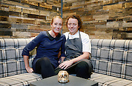 JP License<br /> <br /> <br /> One of the UK's leading restaurants has reopened its doors following a major refurbishment and expansion.  Celebrity Chef Tom Kitchin will prepare to welcome his first guests on Friday 23rd January, as he reveals the much anticipated developments at Michelin star restaurant The Kitchin, in Leith Edinburgh.<br /> <br /> <br /> <br /> Restaurant The Kitchin - led by Chef Tom Kitchin, his wife Michaela and their award-winning team - has become a firm favourite with locals, as well as visitors from across the world, since it opened in June 2006.  The doors will re-open this week, revealing an extended dining space, an exclusive private dining room, a distinctive whisky snug and a temperature controlled wine cellar, as well as an expanded kitchen and a new butchery area for Tom and his team of chefs. <br /> <br /> Michaela & Tom in the whisky snug<br /> <br />  Neil Hanna Photography<br /> www.neilhannaphotography.co.uk<br /> 07702 246823