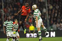 FOOTBALL - UEFA EUROPA LEAGUE 2011/2012 - GROUP STAGE - GROUP I - STADE RENNAIS v CELTIC - 20/10/2011 - PHOTO PASCAL ALLEE / DPPI - ABDOULRAZAK BOUKARI (REN) / GLENN LOOVENS (GLA)