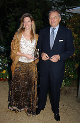 COUNT & COUNTESS EDMONDO di ROBILANT  at the annual Cartier Flower Show Diner held at The Physics Garden, Chelsea, London on 23rd May 2005.<br />