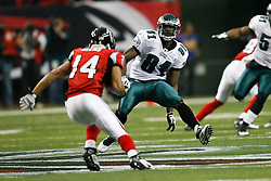 Philadelphia Eagles wide receiver Jason Avant #81 on special teams during the NFL game between the Philadelphia Eagles and the Atlanta Falcons on December 6th 2009. The Eagles won 34-7 at The Georgia Dome in Atlanta, Georgia. (Photo By Brian Garfinkel)
