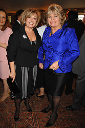 Left to right, ELAINE PAIGE and JUDITH CHALMERS at a tribute lunch for Elaine Paige hosted by the Lady Taverners at The Dorchester, Park Lane, London on 13th November 2007.<br />