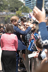 AU_1369901 - Sydney, AUSTRALIA  -  Prince Harry and Meghan tour Opera House, Taronga Zoo after baby news. Royal watchers swamp Opera House for Meghan Markle and Prince Harry's first day on tour downunder.<br /> <br /> Pictured: Prince Harry<br /> <br /> BACKGRID Australia 16 OCTOBER 2018 <br /> <br /> BYLINE MUST READ: Trevor Goddard / BACKGRID<br /> <br /> Phone: + 61 2 8719 0598<br /> Email:  photos@backgrid.com.au