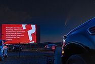 """BOLO Photo<br /> Wild West Automotive Photography<br /> """"Social Distancing""""<br /> Comet Neowise<br /> July 18, 2020<br /> Roy's Black Hills Twin Drive-In<br /> Hermosa, South Dakota"""