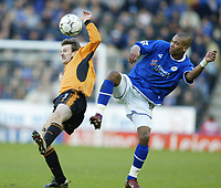 Foto: Digitalsport<br /> NORWAY ONLY<br /> Leicester v Wolverhampton<br /> 28th February 2004<br /> <br /> MARCUS BENT AND LEE NAYLOR