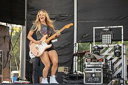 June 20, 2018 - Oshkosh, Wisconsin, U.S - Musician LINDSAY ELL during Country USA Music Festival at Ford Festival Park in Oshkosh, Wisconsin (Credit Image: © Daniel DeSlover via ZUMA Wire)