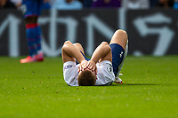 Football - 2021/2022  Premier League - Crystal Palace vs Tottenham Hotspur - Selhurst Park  - Saturday 11th September 2021.<br /> <br /> Eric Dier (Tottenham Hotspur)  realises that he can not carry on and covers his face with his hands in disappointment at Selhurst Park.<br /> <br /> COLORSPORT/DANIEL BEARHAM