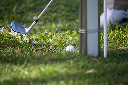November 22, 2018 - Hong Kong, China - A photo showing a golf ball and a gold club during a game in the Honma Hong Kong Open 2018 in Hong Kong, China. 22 November 2018. (Credit Image: © Harry Wai/NurPhoto via ZUMA Press)