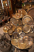 Objects for sale at the Khan-alKhalili Bazaar in Cairo, Egypt