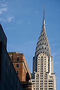 the Chrysler Building in New York USA seen from 42nd street and 5th avenue