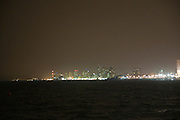 Israel, Tel Aviv as seen from the Old City of Jaffa night shot