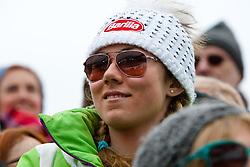 17.02.2013, Planai, Schladming, AUT, FIS Weltmeisterschaften Ski Alpin, Slalom, Herren, 2. Durchgang, im Bild Slalom- Weltmeisterin Mikaela Shiffrin (USA) // Slalom world champion Mikaela Shiffrin (USA) in action during 2nd run of the mens Slalom at the FIS Ski World Championships 2013 at the Planai Course, Schladming, Austria on 2013/02/17. EXPA Pictures © 2013, PhotoCredit: EXPA/ Markus Casna
