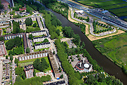 Nederland, Noord-Holland, Gemeente Zaanstad, 14-06-2012; Zaandam, Sultan Ahmet Moskee en Cultureel Centrum in de wijk Poelenburg. Rechtsboven autosnelweg A8..luchtfoto (toeslag), aerial photo (additional fee required);.copyright foto/photo Siebe Swart