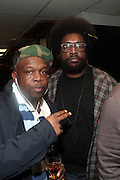 17 May 2011- New York, NY - l to r: Jeru the Damager and Quest?Love backstage at the Kool Herc Tribute  and Melle Mel Birthday Celebration Produced by Jill Newman Productions and held at BB Kings on May 17, 2011 in New York City. Photo Credit: Terrence Jennings